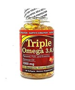 Earth's Creation Flaxseed and Fish Oil - (Triple Omega 3/6/9 with Primro... - $12.75