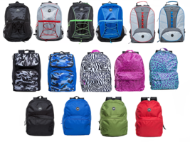 NEW Unisex Lightweight Travel Sports School Rucksack Backpack Shoulder B... - $23.99