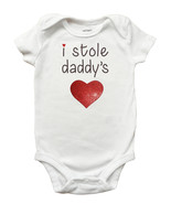 I Stole Daddys Heart One Piece Bodysuit - Fathers Day Romper for Baby Gi... - $12.99