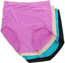 Breezies Set 4 Nylon Microfiber Brief Panty Jewel M NEW A287799 - $24.73
