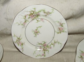 Vintage 1937-56 Theodore Haviland ROSALINDE Bread & Butter New York Gilt Trim - $19.80