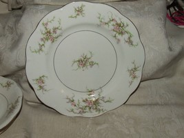 1 1937-56 Theodore Haviland Rosalinde Large Dinner Plate New York Gilt Trim - $44.00