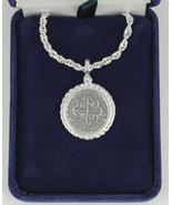 Rope Bezel Mel Fisher Atocha Pirate Spanish Coin Shipwreck Pendant Key W... - $54.00