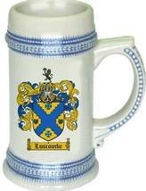 Luscombe Coat of Arms Stein / Family Crest Tankard Mug - $21.99