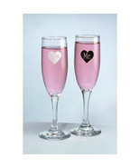Mr & Mrs Black White Heart Toasting Flutes Hortense B Hewitt Wedding Gla... - $15.99