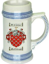 Maccullough Coat of Arms Stein / Family Crest Tankard Mug - $21.99
