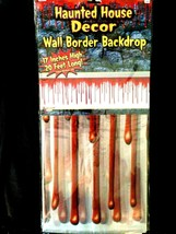 Horror BLOODY BORDER Scene Setter Wall Trim Halloween Party Decoration P... - $7.89