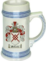 Mccardel Coat of Arms Stein / Family Crest Tankard Mug - $21.99