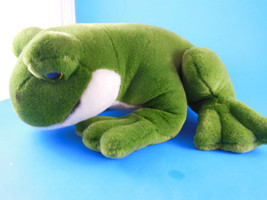 "Large Velour Plush Frog 15"" Jaag Rare HTF  Has rattle in it - $9.00"