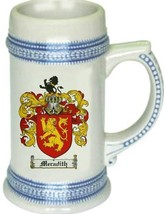 Meradith Coat of Arms Stein / Family Crest Tankard Mug - $21.99