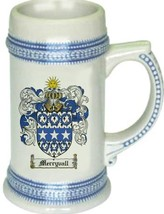 Merryvall Coat of Arms Stein / Family Crest Tankard Mug - $21.99