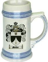 Mettler Coat of Arms Stein / Family Crest Tankard Mug - $21.99