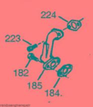 TECUMSEH INTAKE ELBOW 33877 HM80 HM100 HM70 HMSK80 +++ - $43.99