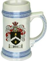 Pierce Coat of Arms Stein / Family Crest Tankard Mug - $21.99