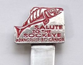 Collector Souvenir Spoon Canada BC Adams River Salute To The Sockeye Salmon - $7.99