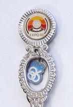 Collector Souvenir Spoon Canada BC Vancouver Expo 86 Emblem Charm - $2.99