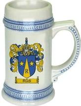 Rudi Coat of Arms Stein / Family Crest Tankard Mug - $21.99