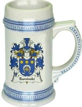 Ruminski Coat of Arms Stein / Family Crest Tankard Mug - $21.99