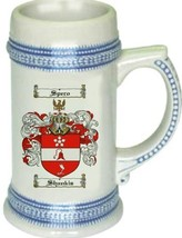 Shankis Coat of Arms Stein / Family Crest Tankard Mug - $21.99