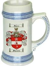 Shankis Coat of Arms Stein / Family Crest Tankard Mug - $21.99