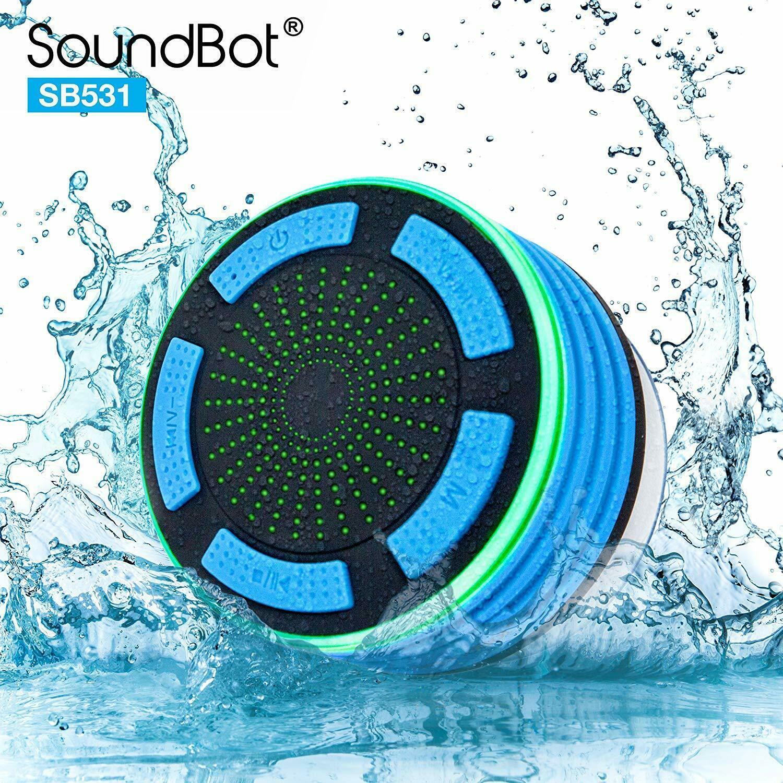 SoundBot IPX7 Waterproof 5W Bluetooth Wireless Shower Speaker with 8Hrs Playback