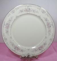 Royal Limited Antique Lace Dinner Plate Rose Pink Flowers Gold Trim Rimmed VTG - $9.49