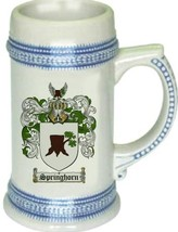 Springhorn Coat of Arms Stein / Family Crest Tankard Mug - $21.99
