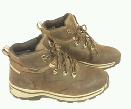 Timberland  Hiking Boots Brown Leather Boys Girl Youth Size 5.5 waterproof  - $44.55