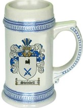 Swindell Coat of Arms Stein / Family Crest Tankard Mug - $21.99