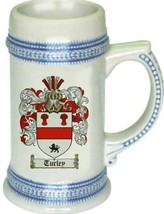 Turley Coat of Arms Stein / Family Crest Tankard Mug - $21.99