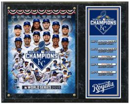"Kansas City Royals 2015 World Series Champions Commemorative 15"" x 12"" P... - $42.95"