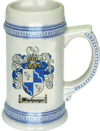 Wischmeyer Coat of Arms Stein / Family Crest Tankard Mug