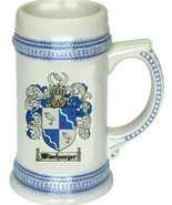Wischmeyer Coat of Arms Stein / Family Crest Tankard Mug - $21.99