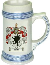 Witt Coat of Arms Stein / Family Crest Tankard Mug - $21.99