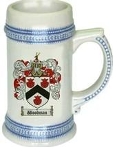Woodman Coat of Arms Stein / Family Crest Tankard Mug - $21.99