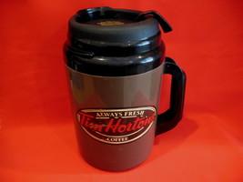 Tim Hortons Coffee Thermos Cup Mug Vintage HUGE Thermos Collector Souvenir - $16.95