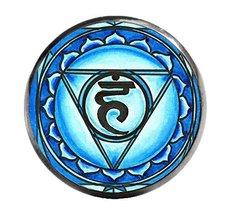 """5th Chakra Vishuddha 1"""" Circle Gunmetal Adjustable Ring - $14.95"""