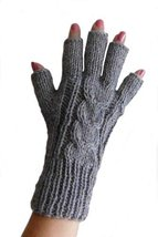 Alpakaandmore Womens Fingerless Alpaca Wool Gloves (Ivory) [Apparel] - $24.45