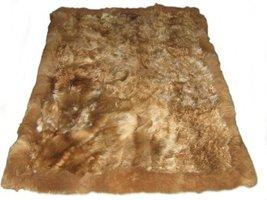 Alpakaandmore Original Andean Babyalpaca Fur Rug Brown Handmade (90 x 60 cm/ ... - $241.16