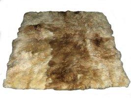 Alpakaandmore Original Andean Babyalpaca Fur Rug Beige Brown Handmade (90 x 6... - $241.16