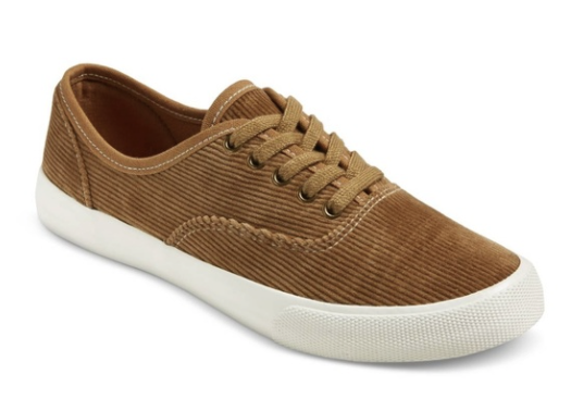 Brand New Mossimo Supply Co Women's Savannah Brown Tan Corduroy Sneakers
