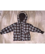 Carter's Boy's Winter Parka Brown with Blue square pattern 2T - $7.87