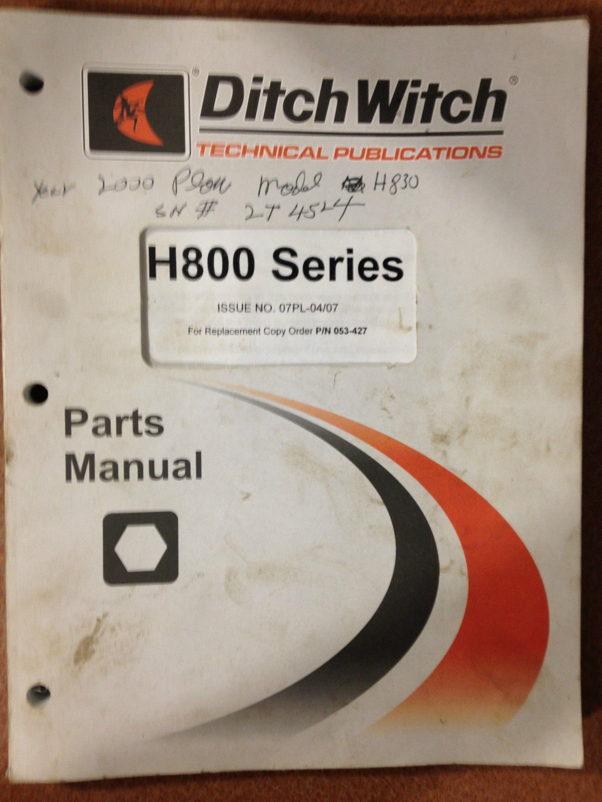 ditch witch 410sx parts manual