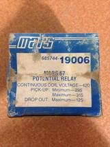 Mars  Potential Replacement Relay 19006 - $30.00
