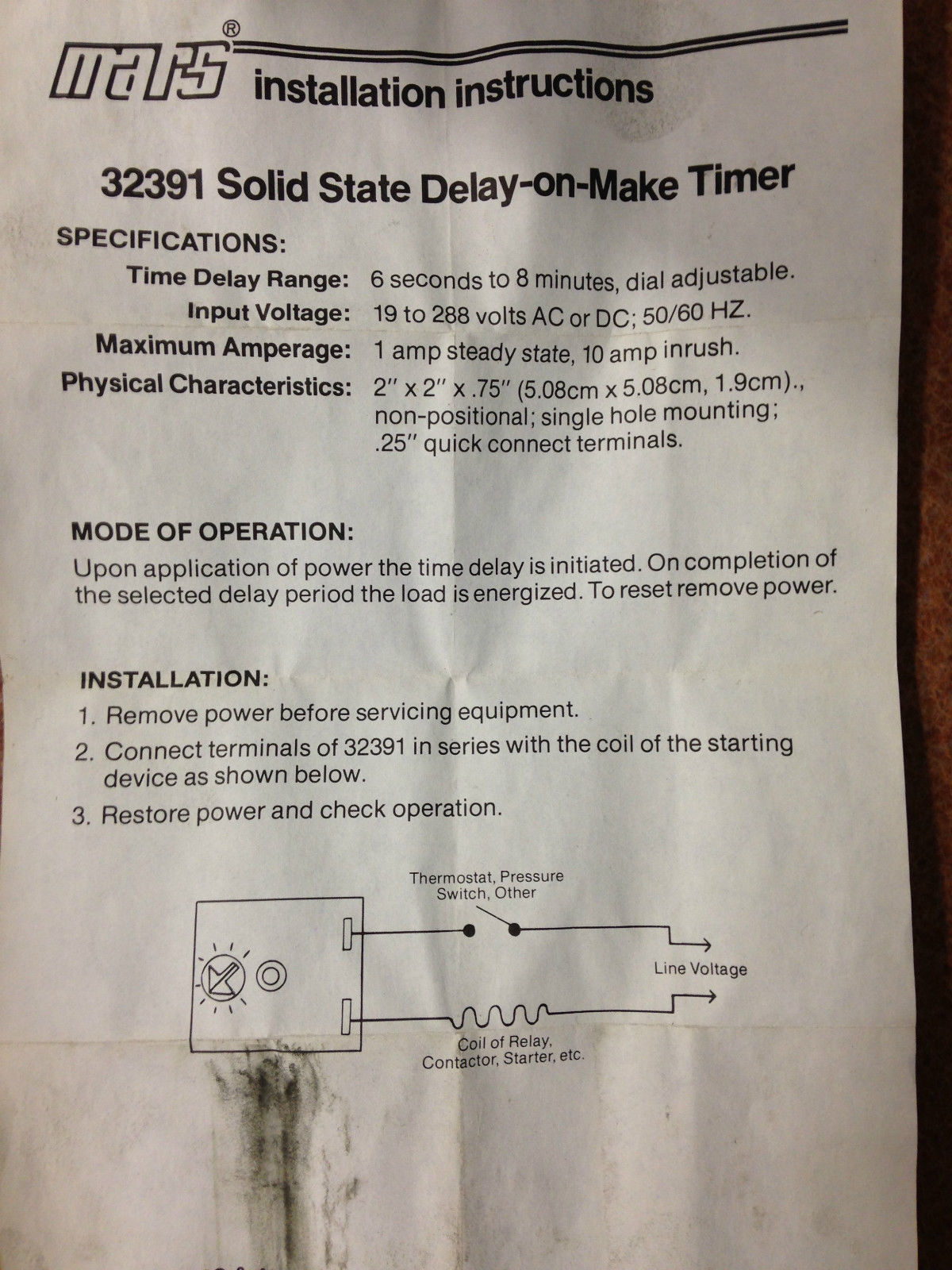 Mars Time Delay Relay Wiring Diagram Free Vehicle Diagrams Solid State On Make Timer 32391 Icm102b And 12 Similar Items Rh Bonanza Com 11 Pin