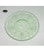 Cameo Ballerina Green Plate 6 in. Sherbet / Saucer Hocking - $3.95