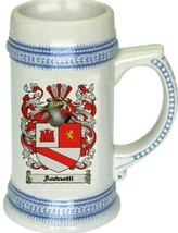 Andreotti Coat of Arms Stein / Family Crest Tankard Mug - $21.99
