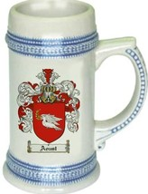 Aoust Coat of Arms Stein / Family Crest Tankard Mug - $21.99