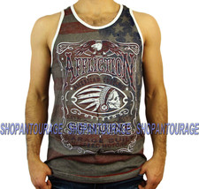 AFFLICTION Genuine Whiskey A13015 New Men`s Reversible Charcoal Tank Top - $37.95
