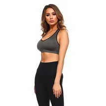 Lady'S Sports Bra W/Cut Out Detail At Back/Charcoal-XL/X-Large - $21.90